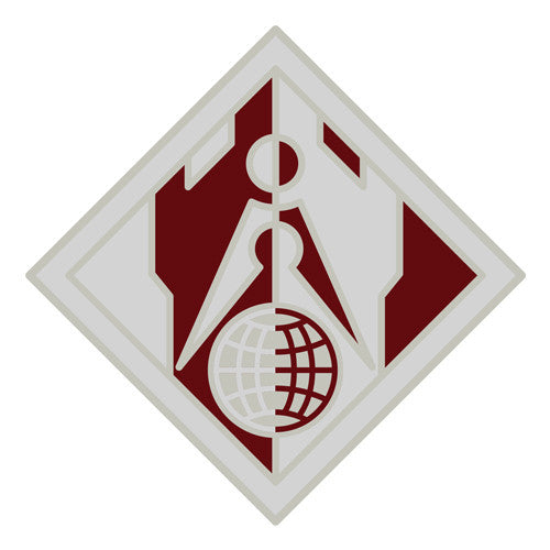 Combat Service Identification Badge Sticker - Corps of Engineers Decal