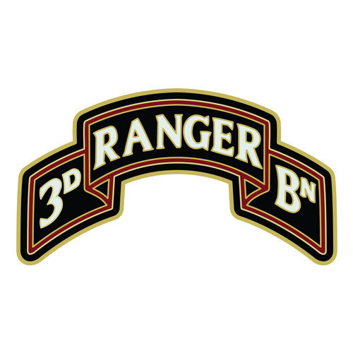 Combat Service Identification Badge Sticker - 3rd Ranger Battalion Scroll 75th Regiment Decal