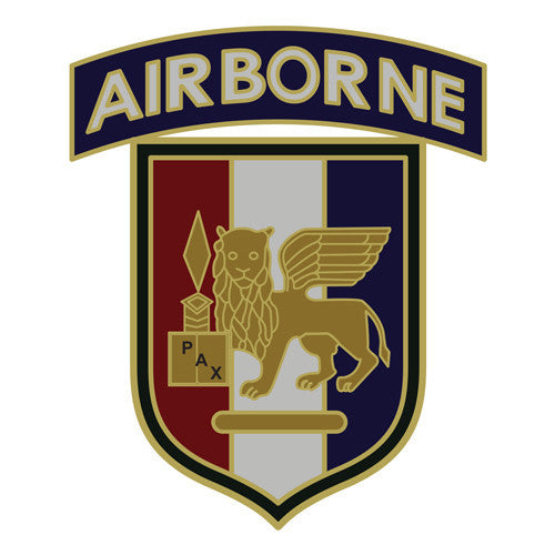 Combat Service Identification Badge Sticker - U.S. Army Africa SETAF with Airborne Tab Decal