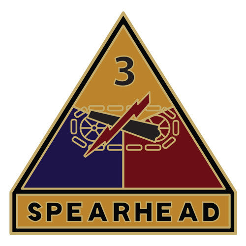 Combat Service Identification Badge Sticker - 3rd Armored Division Decal