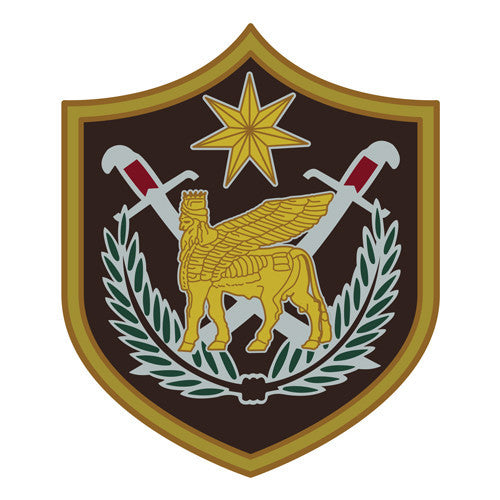 Combat Service Identification Badge Sticker - Multi-National Forces Iraq Decal