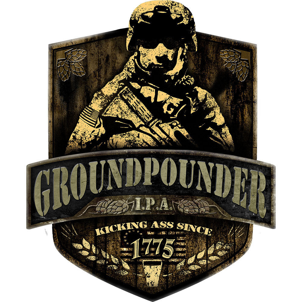 Army Groundpounder IPA Sticker
