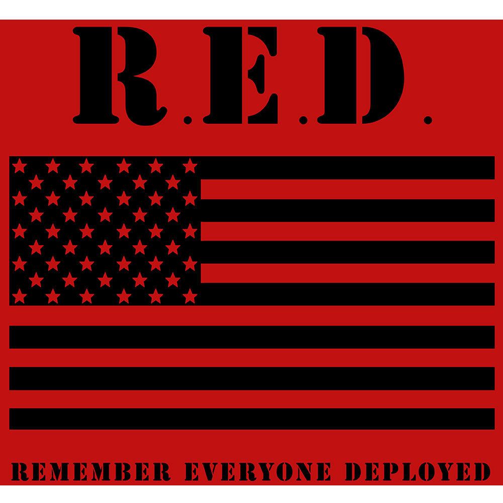 RED Friday Flag Sticker