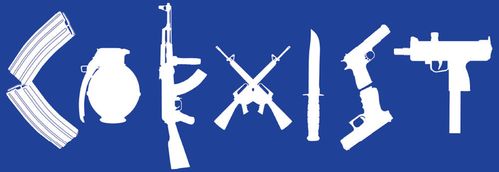2nd amendment coexist bumper sticker