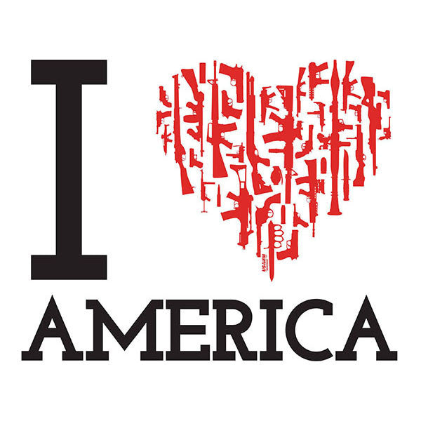 I Heart America Decal