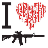 I Heart AR-15 Decal
