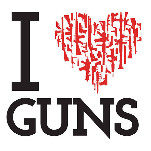 I Heart Guns Decal