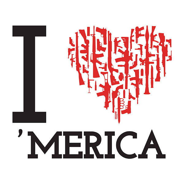 I Heart 'merica Decal