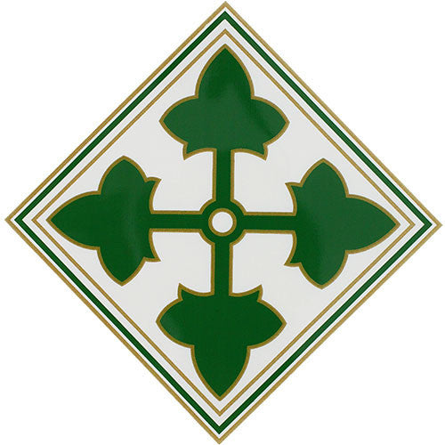 4th Infantry Division Clear Decal