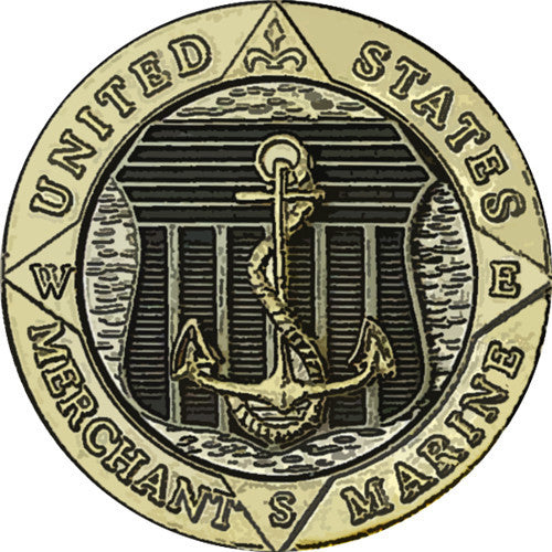 Merchant Marine Emblem Sticker