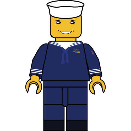 Navy Dress Blue Uniform Figurine 5