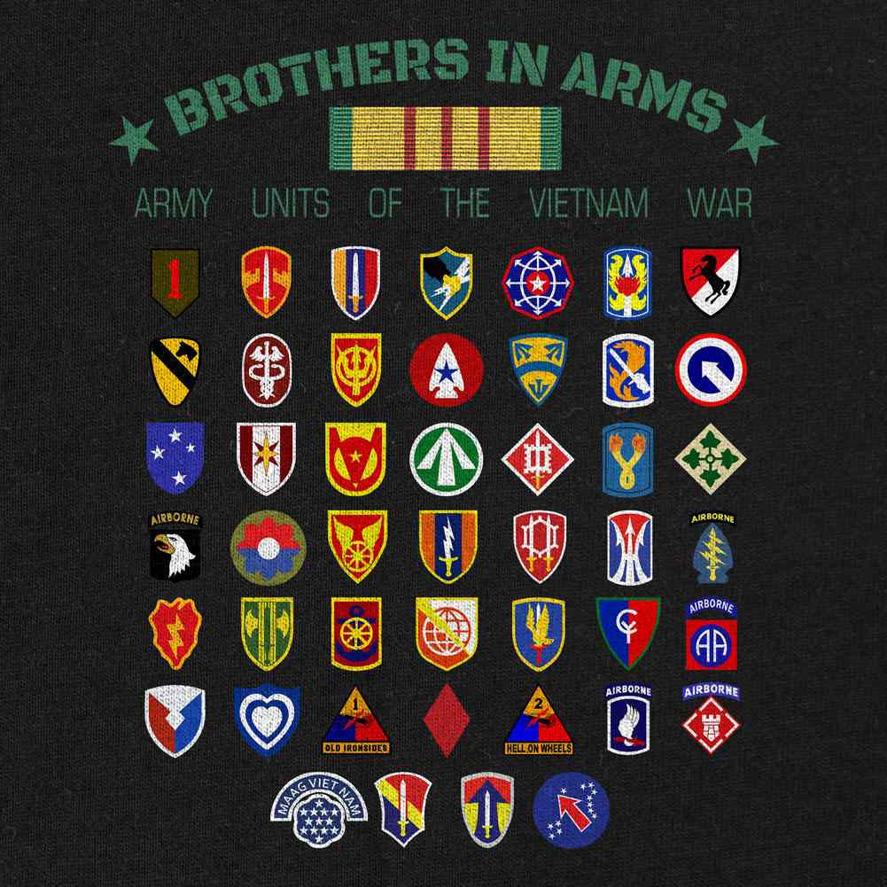 Vietnam Army Units Brothers in Arms T-Shirt