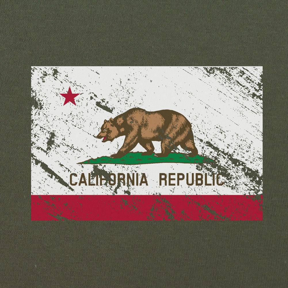Vintage California Flag Distressed T-Shirt - Sm - Heather Grey