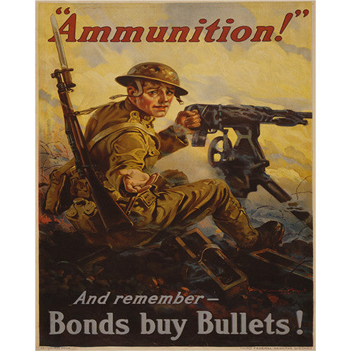 Ammunition Bonds - 8 x 10 Vintage Canvas Print