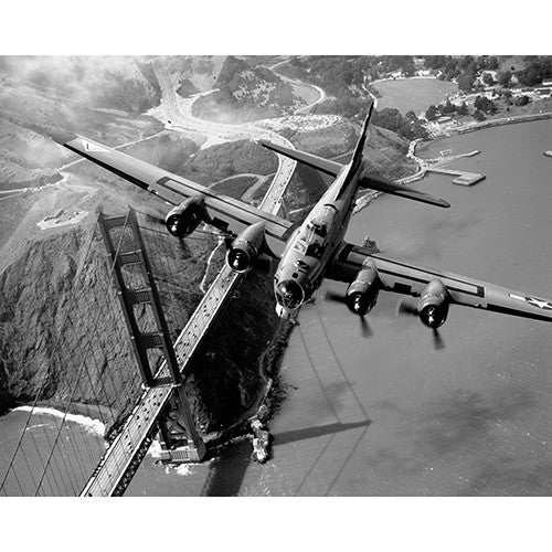 Bomber over Golden Gate - 8 x 10 Canvas Print