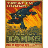 Join the Tanks - 8 x 10 Vintage Canvas Print