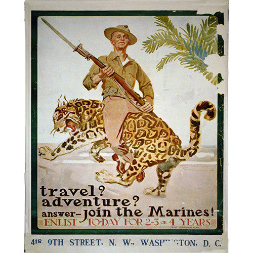 Marine Adventure - 8 x 10 Vintage Canvas Print