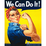Rosie the Riveter - 8 x 10 Vintage Canvas Print