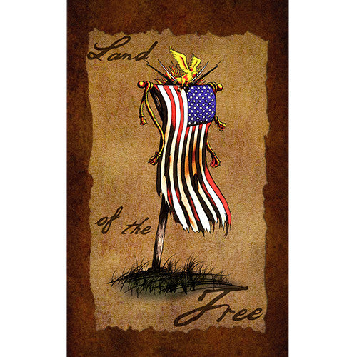 Land of the Free - 6 x 10 Vintage Canvas Print
