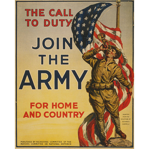 Call to Duty Join the Army - 8 x 10 Canvas Print