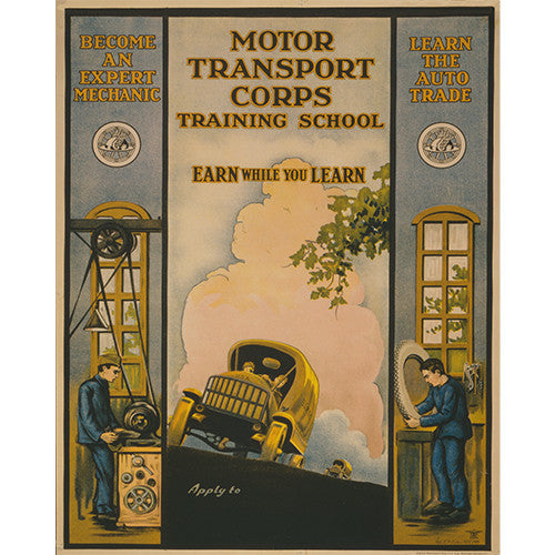 Transportation Corps - 8 x 10 Vintage Canvas Print