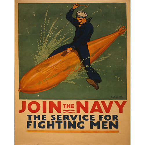 Join the Navy! - 8 x 10 Vintage Canvas Print