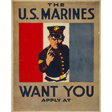 U.S. Marines Want You - 8 x 10 Vintage Canvas Print