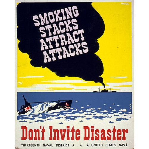 Smoking Stacks! - 8 x 10 Vintage Canvas Print
