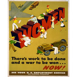 Women of War - 8 x 10 Vintage Canvas Print