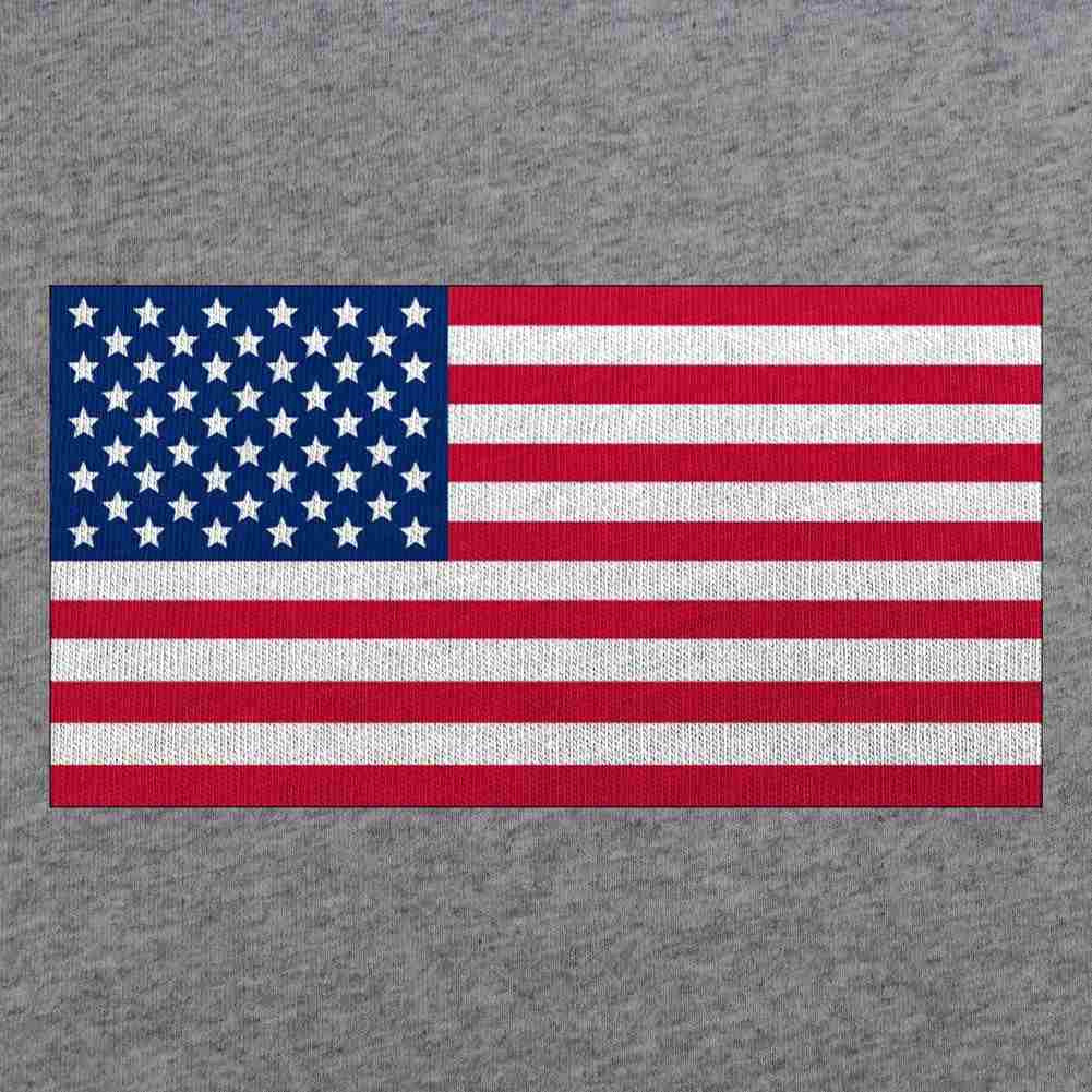 Classic American Flag T-Shirt - Heather Grey - Swatch