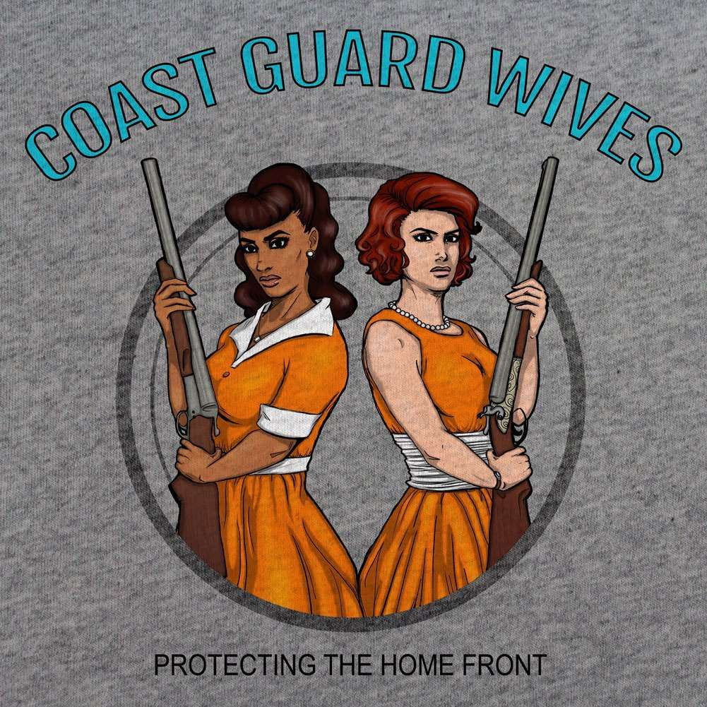 Coast Guard Wives Protecting the Homefront T-Shirt - Red - Small