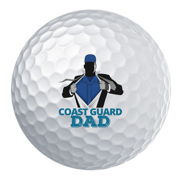Coast Guard Dad Golf Ball Set