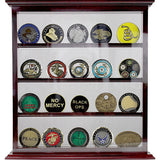 4 Row Coin Stand - Cherry