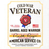 Cold War Veteran Whiskey Label T-Shirt - White - Small