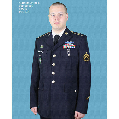Canvas Dress Uniform Portrait