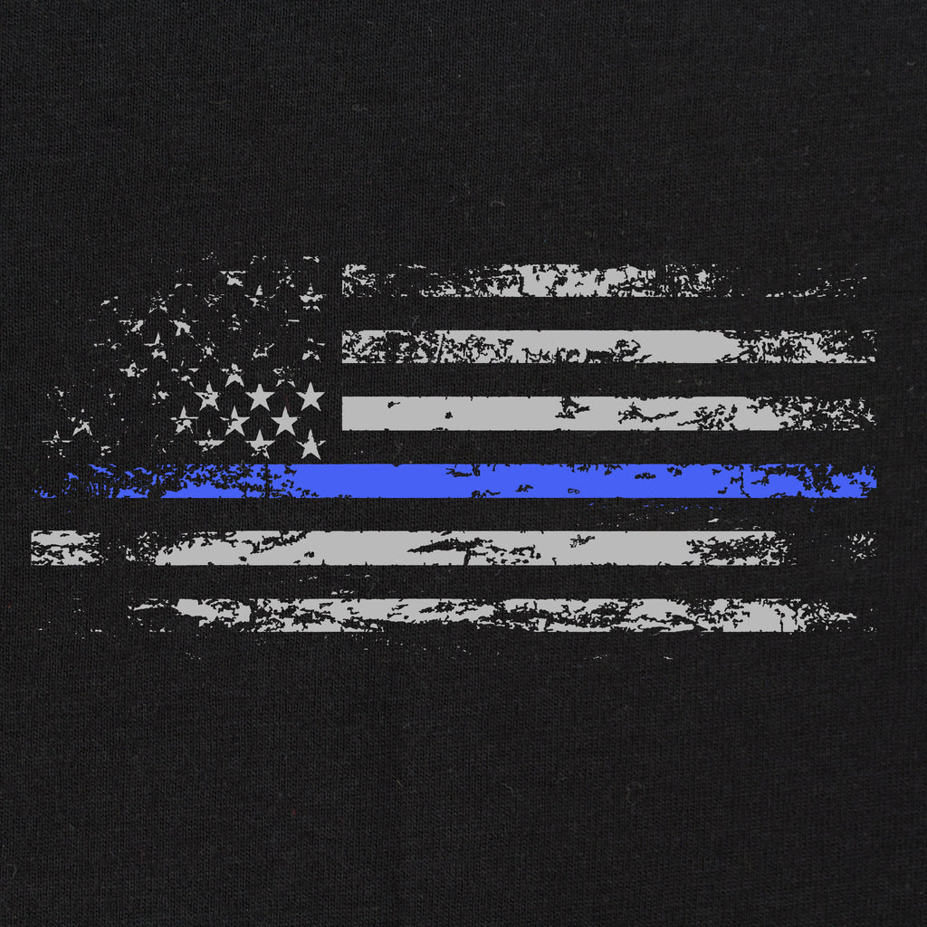 Blue Line Distressed Flag