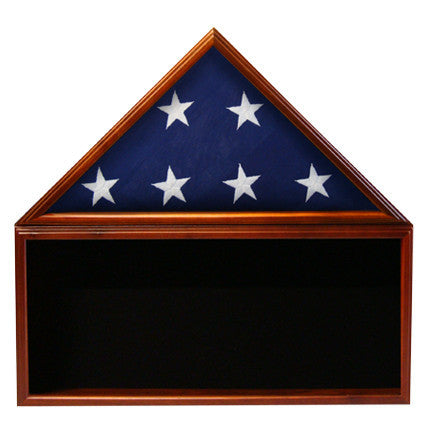 Flag & Memorabilia Display Case (WITH FLAG) - Black Background
