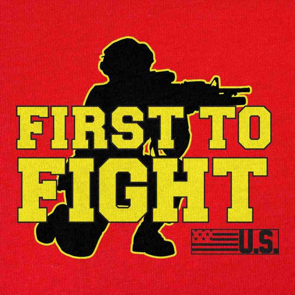 First to Fight T-Shirt - Red - Swatch