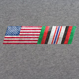 American Flag Afghanistan Campaign Ribbon Blend T-Shirt