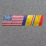 American Flag Combat Action Ribbon Blend T-Shirt