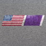 American Flag Purple Heart Ribbon Blend T-Shirt