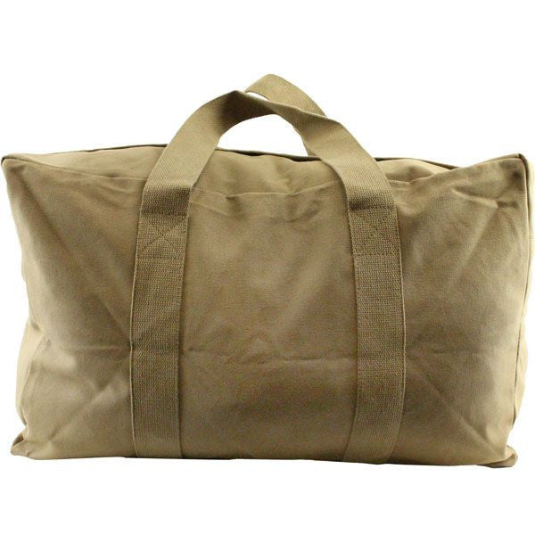 Coyote Brown Canvas Parachute Cargo Bag