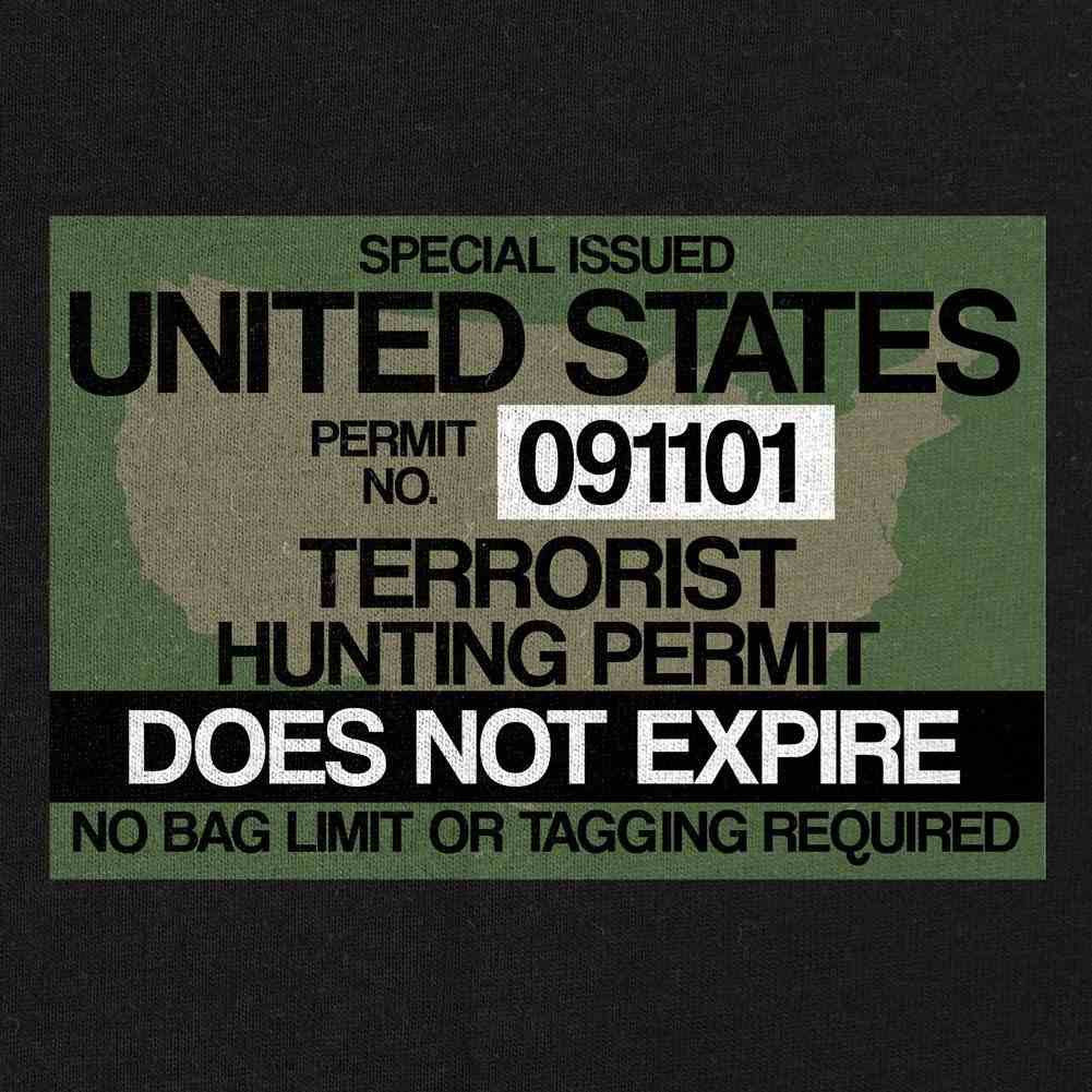 Terrorist Hunting Permit T-Shirt - Black - Swatch