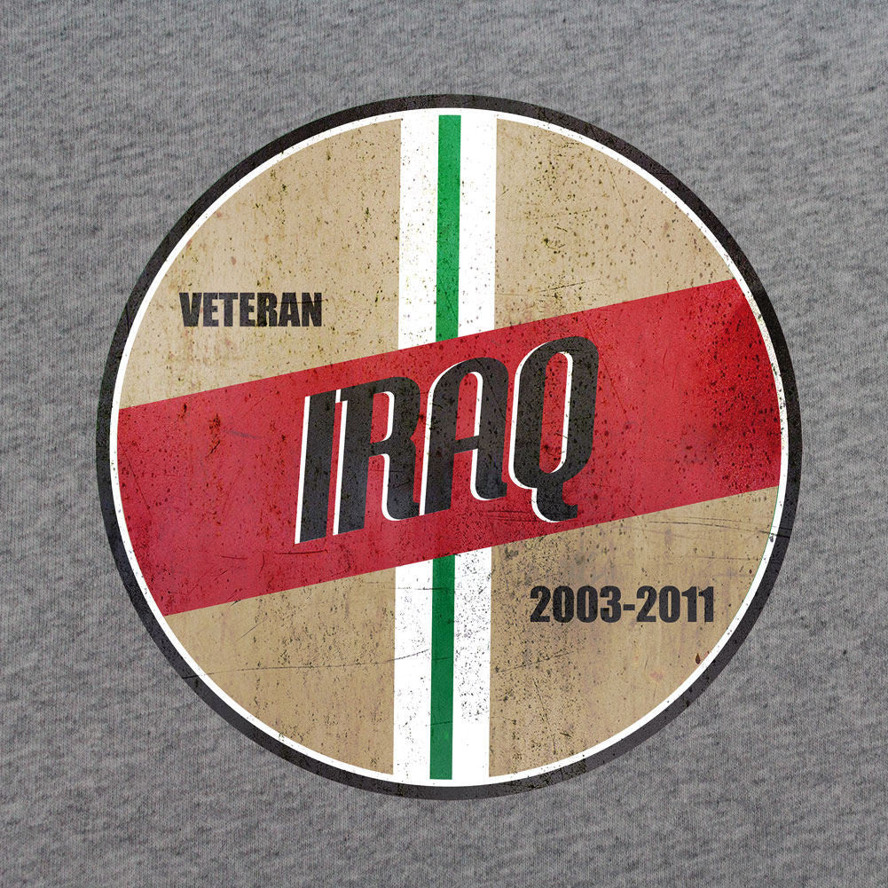 Retro Iraq Campaign Veteran T-Shirt - Sm - Heather Grey