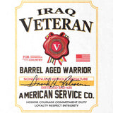 Iraq Veteran Whiskey Label T-Shirt
