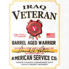 Iraq Veteran Whiskey Label T-Shirt - White - Small