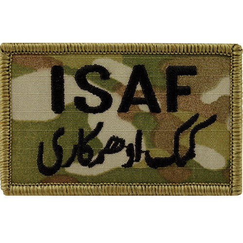 ISAF (International Security Assistance Force) MultiCam (OCP) Patch with Green Border