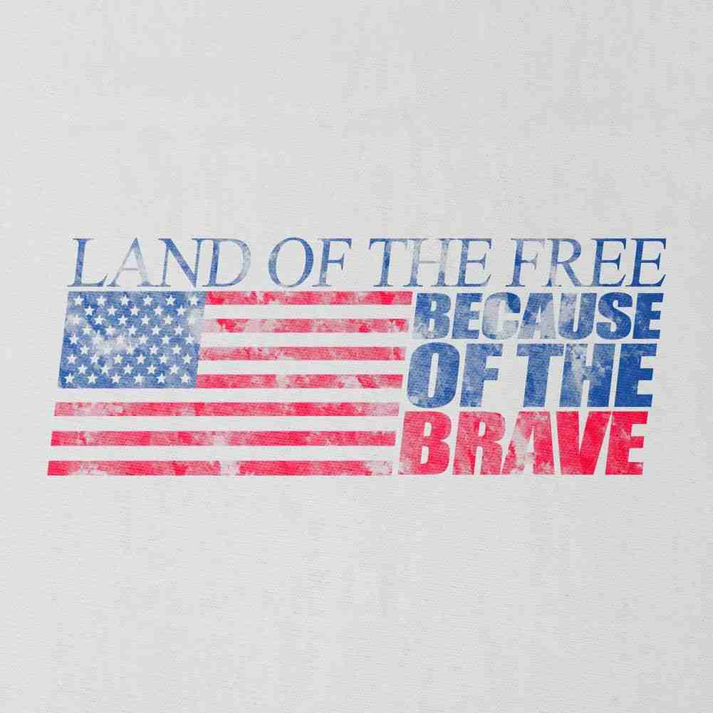 Land of the Free T-Shirt - White - Small