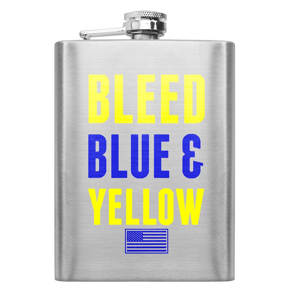Air Force Bleed Blue and Yellow 8 oz. Flask