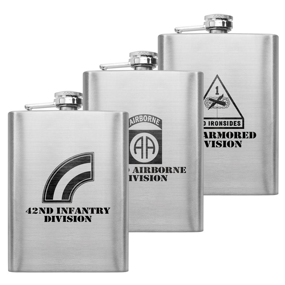 Army Unit 8 oz. Flasks